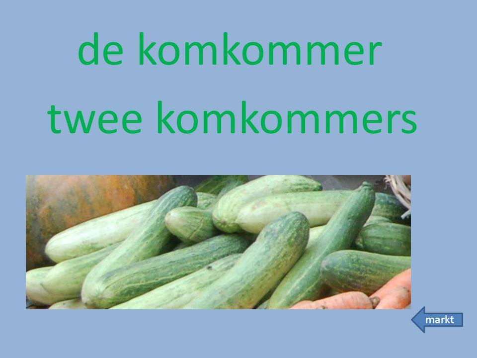 de komkommer twee komkommers markt