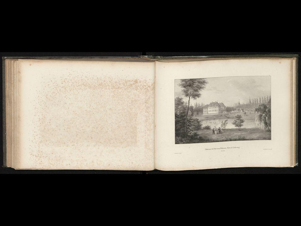 Het hertogelijk kasteel van Tervuren.Kopergravure (van Jacobus Harrewijn?).