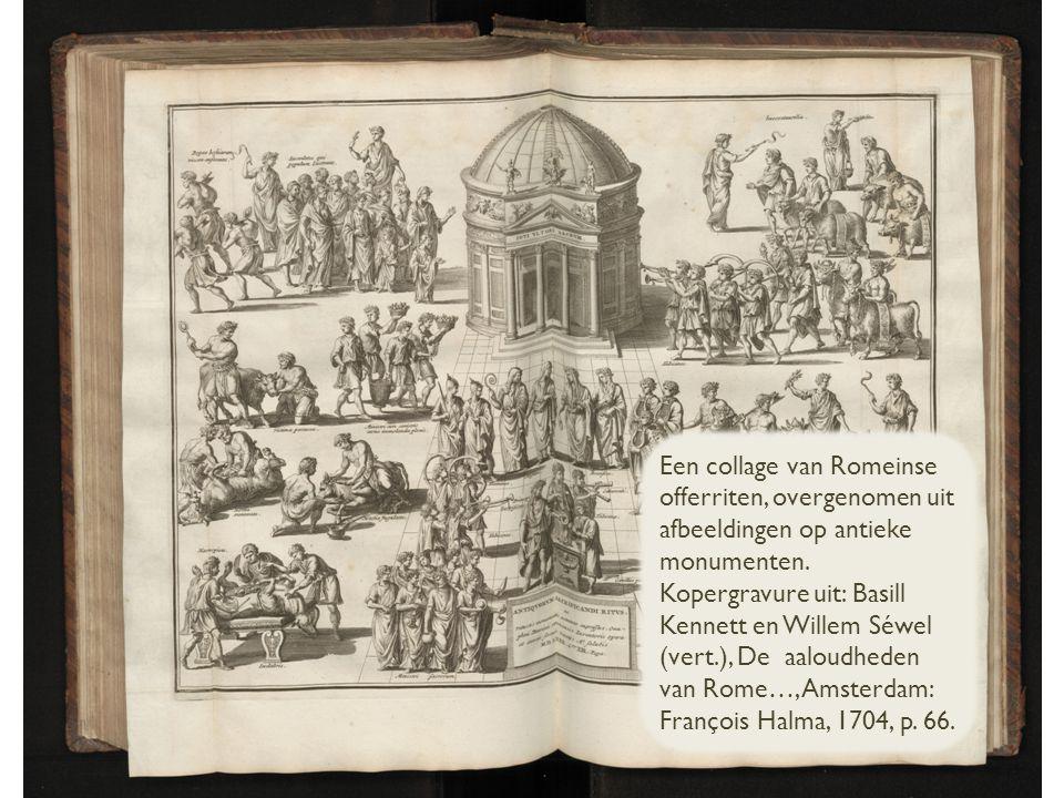 Een collage van Romeinse offerriten, overgenomen uit afbeeldingen op antieke monumenten.