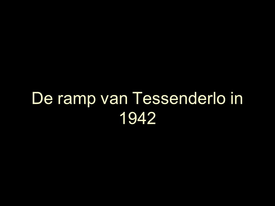 De ramp van Tessenderlo in 1942
