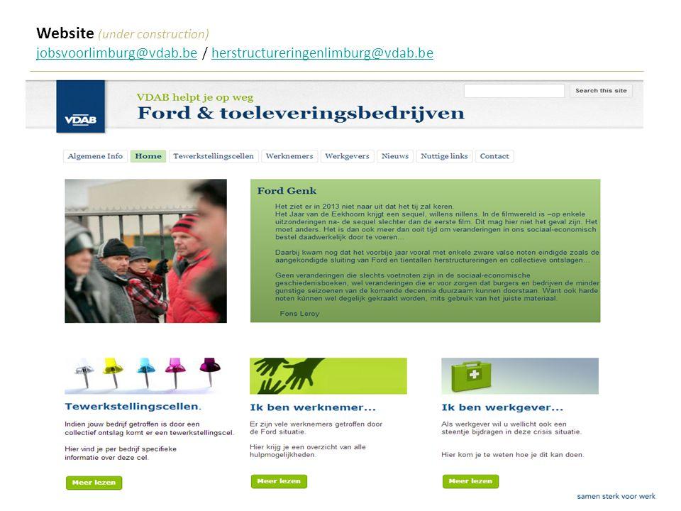 SERR 5 februari 201324 Website (under construction) jobsvoorlimburg@vdab.bejobsvoorlimburg@vdab.be / herstructureringenlimburg@vdab.beherstructureringenlimburg@vdab.be