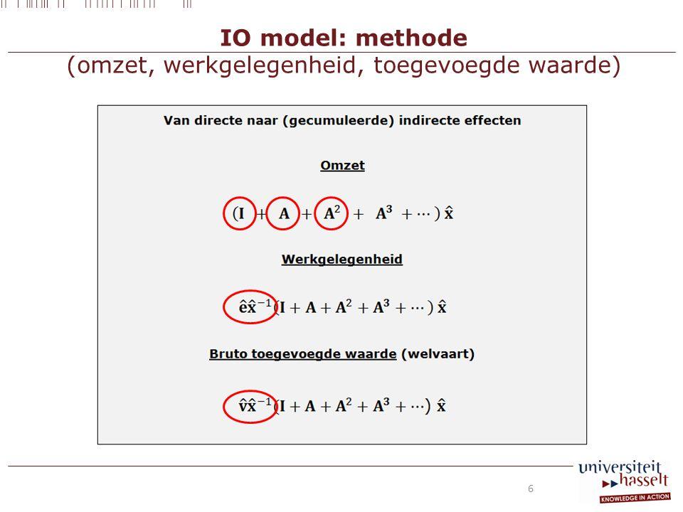 IO model: methode (omzet, werkgelegenheid, toegevoegde waarde) 6