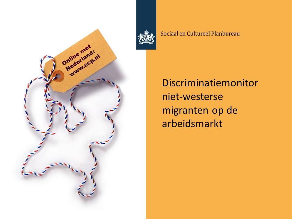 Discriminatiemonitor niet-westerse migranten op de arbeidsmarkt