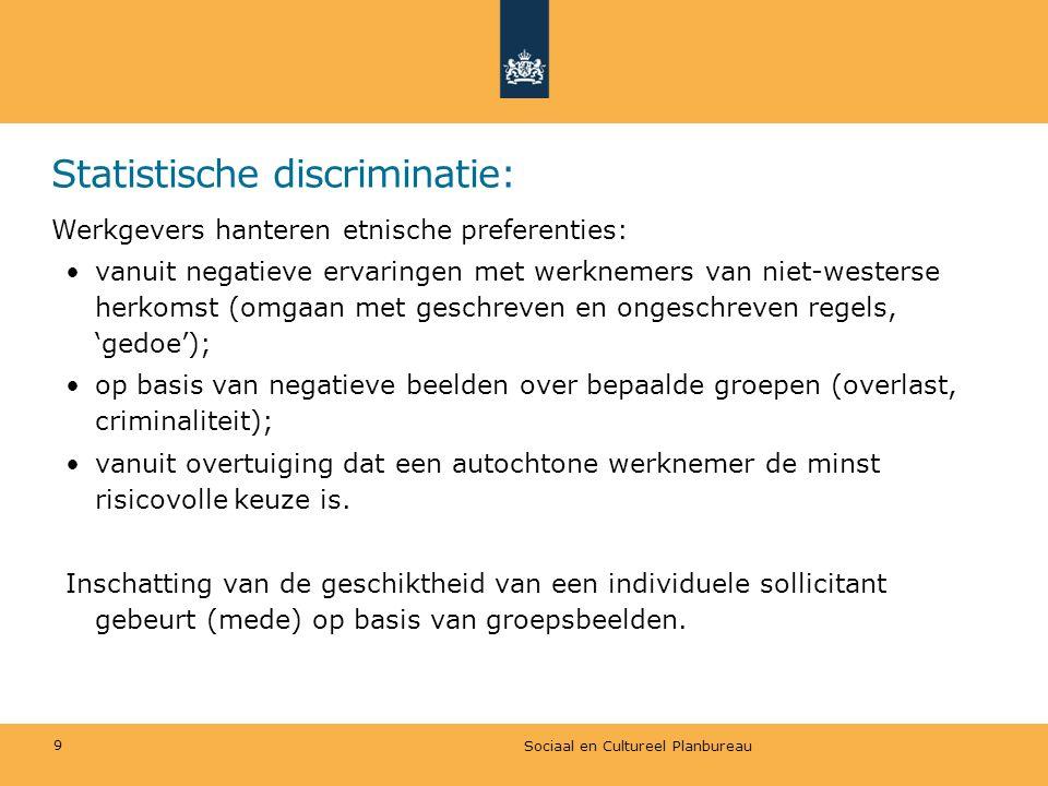 Statistische discriminatie: Werkgevers hanteren etnische preferenties: vanuit negatieve ervaringen met werknemers van niet-westerse herkomst (omgaan m