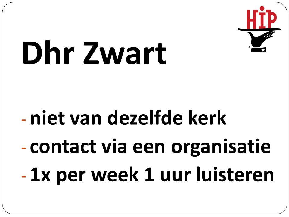 Mw Blauw - onbekend = onbemind - contact via een organisatie - 1x mee naar ziekenhuisgesprek