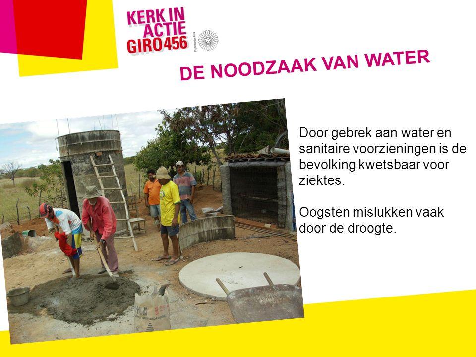 Door gebrek aan water en sanitaire voorzieningen is de bevolking kwetsbaar voor ziektes.
