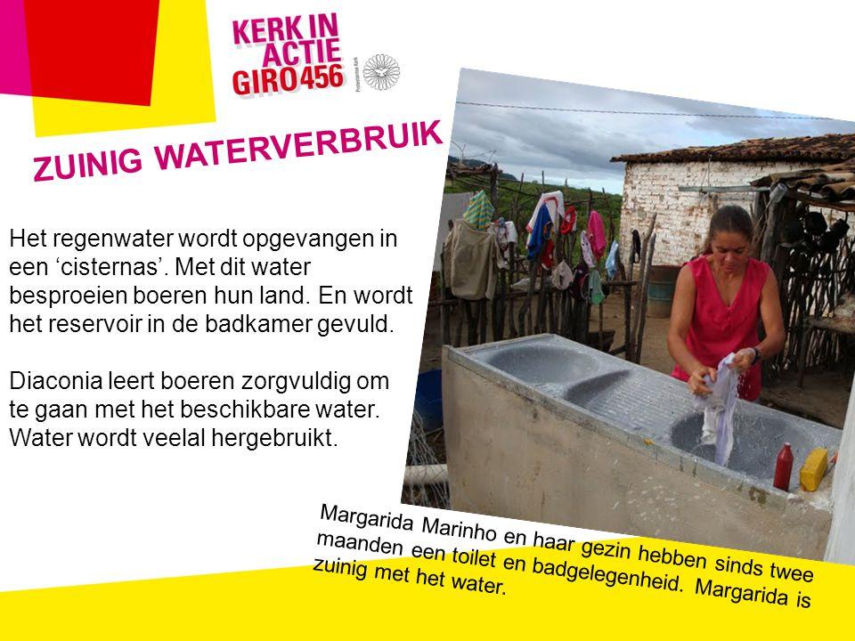 ZUINIG WATERVERBRUIK Het regenwater wordt opgevangen in een 'cisternas'.