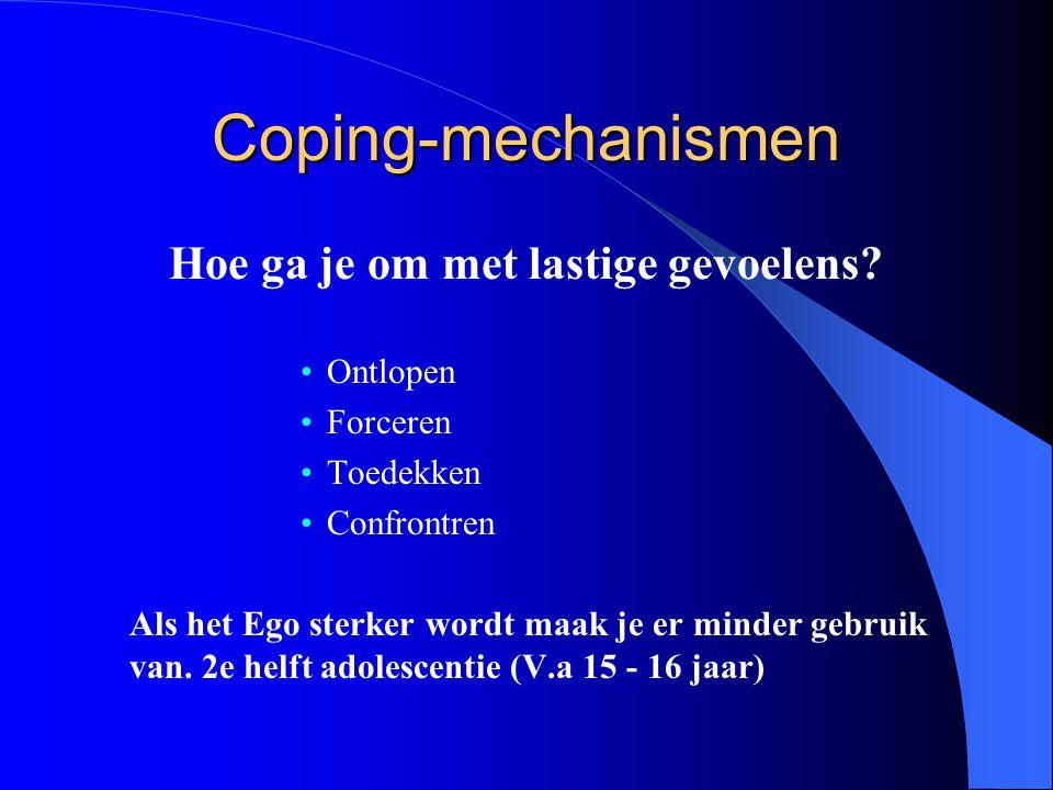 Coping-mechanismen Hoe ga je om met lastige gevoelens.