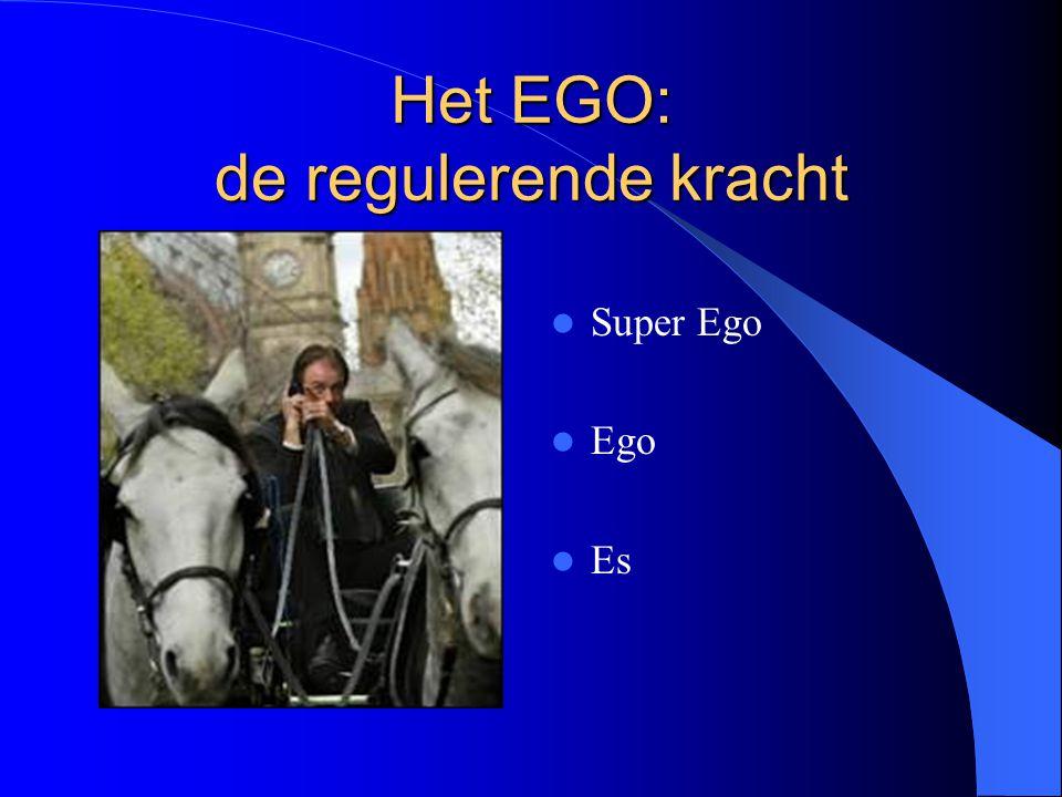 Het EGO: de regulerende kracht Super Ego Ego Es