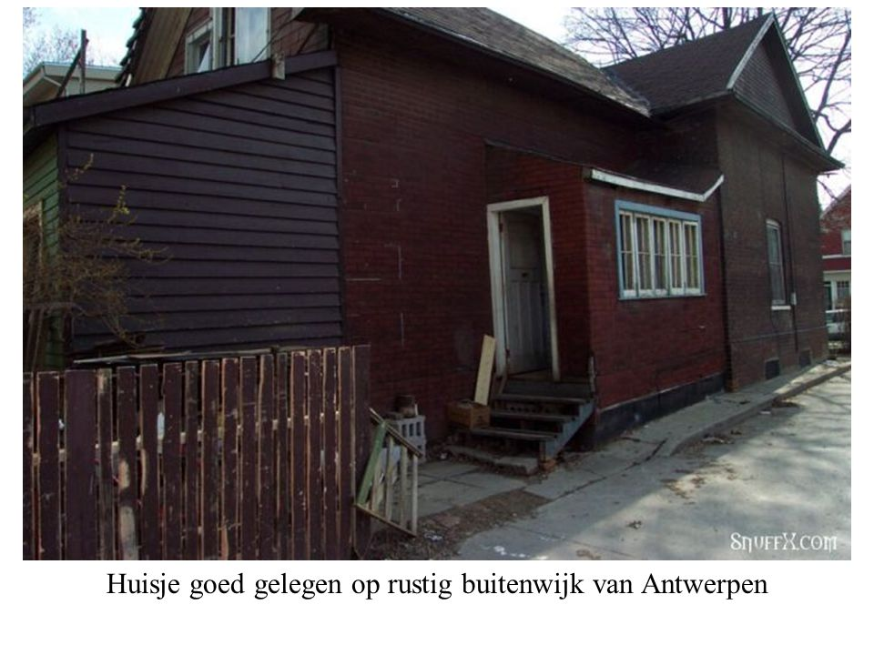 Te koop : gezellig huisje
