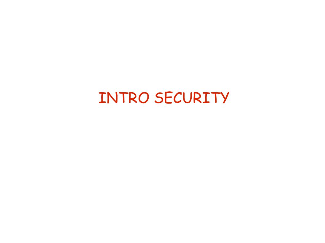 Hoe realiseer je security .