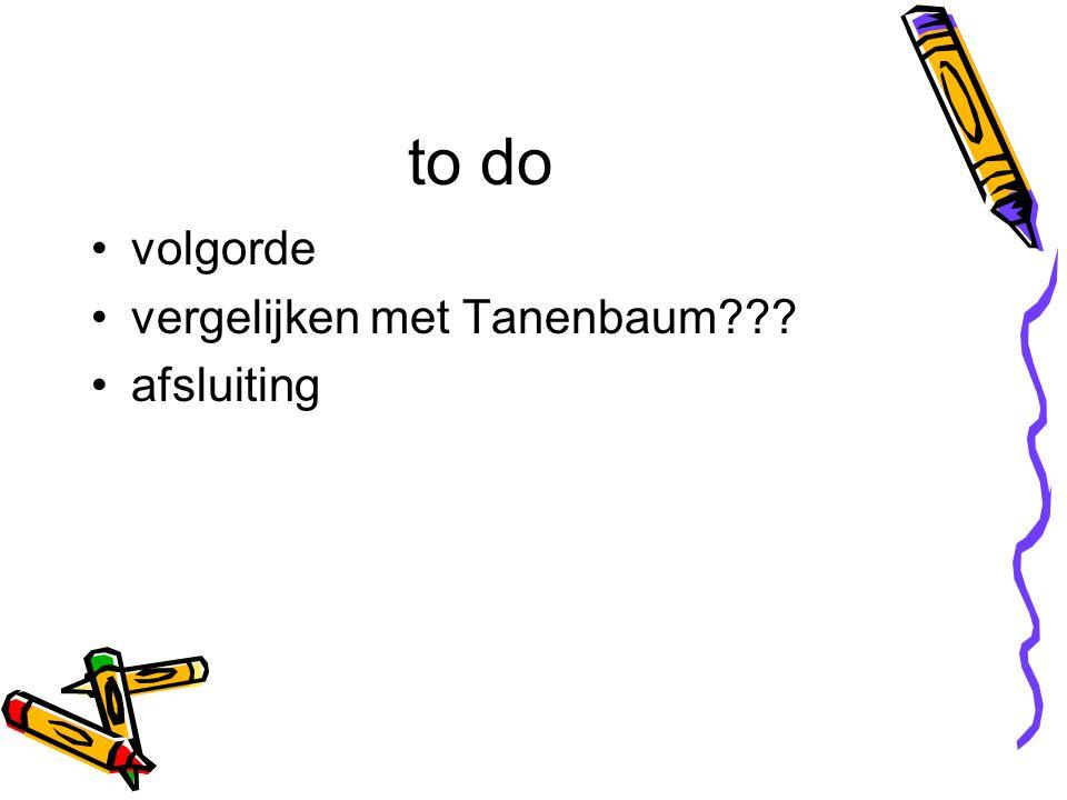 to do volgorde vergelijken met Tanenbaum??? afsluiting