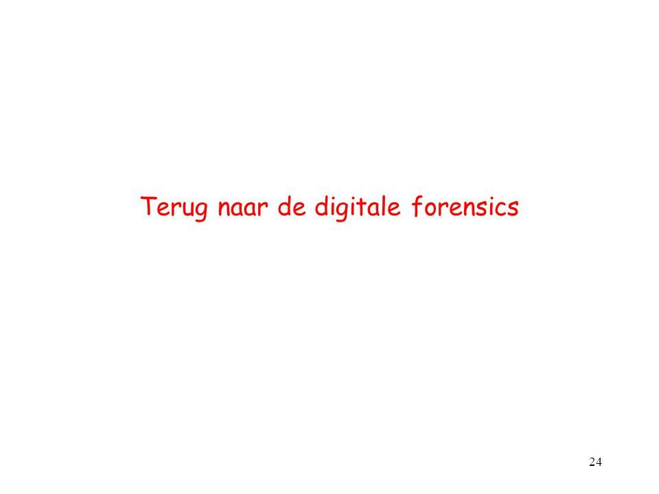 Terug naar de digitale forensics 24