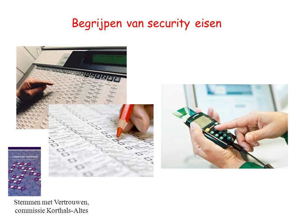 Begrijpen van security eisen [Stemmen met Vertrouwen, commissie Korthals-Altes]