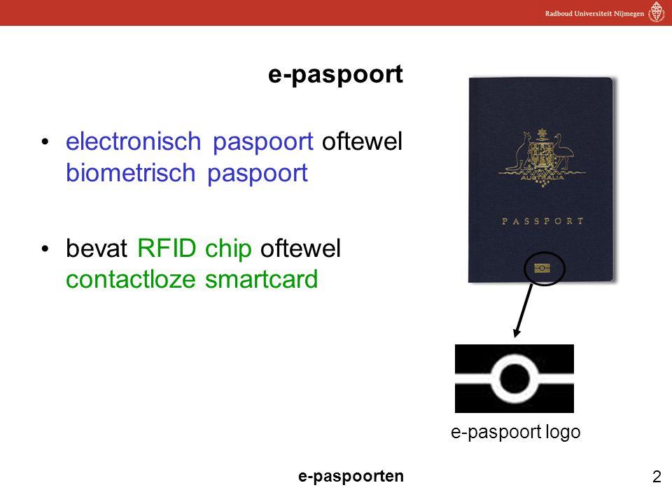 2 e-paspoorten e-paspoort electronisch paspoort oftewel biometrisch paspoort bevat RFID chip oftewel contactloze smartcard e-paspoort logo