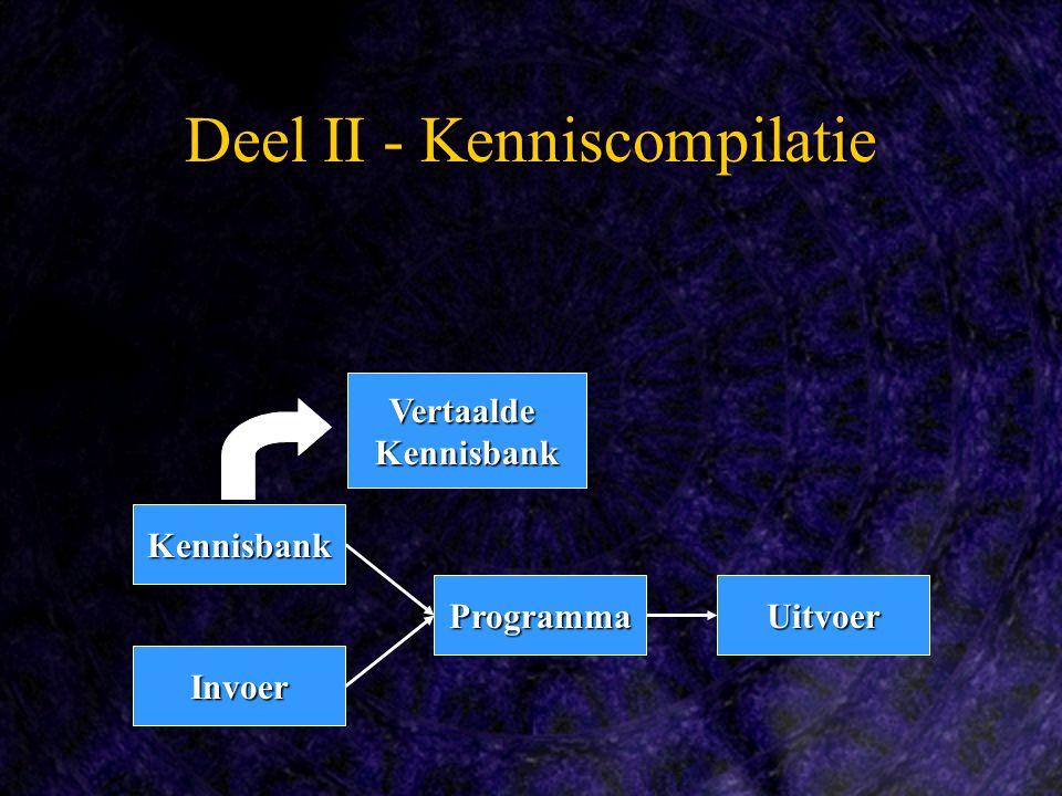 Deel II - Kenniscompilatie Kennisbank Programma Invoer Uitvoer VertaaldeKennisbank