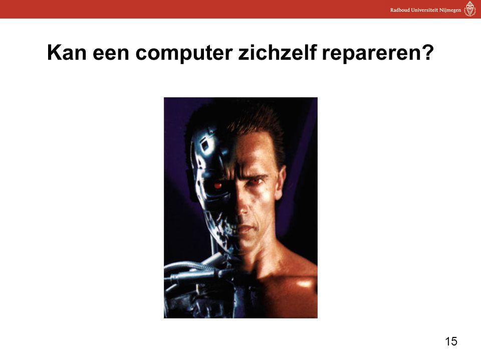 15 Kan een computer zichzelf repareren?