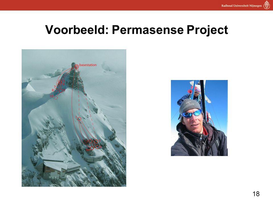 18 Voorbeeld: Permasense Project