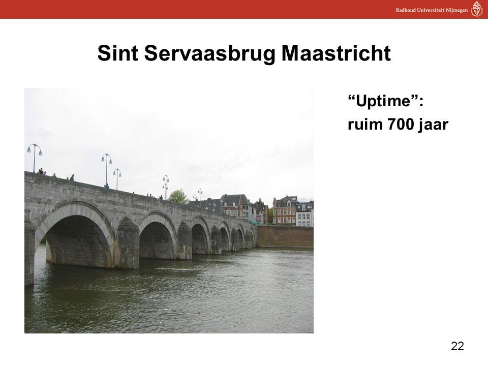 "22 Sint Servaasbrug Maastricht ""Uptime"": ruim 700 jaar"
