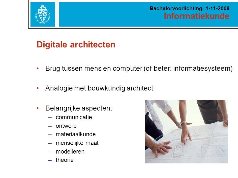 Informatiekunde Bachelorvoorlichting, 1-11-2008 Minister Ter Horst