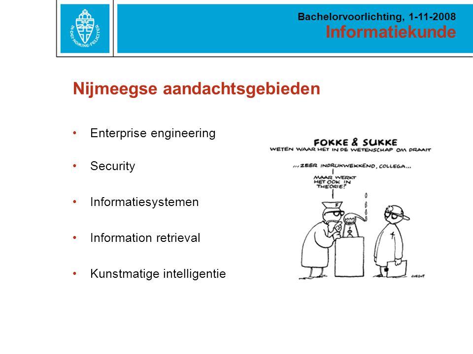 Informatiekunde Bachelorvoorlichting, 1-11-2008 Hoe zou de digitale werkruimte van een topmanager eruit moeten zien.