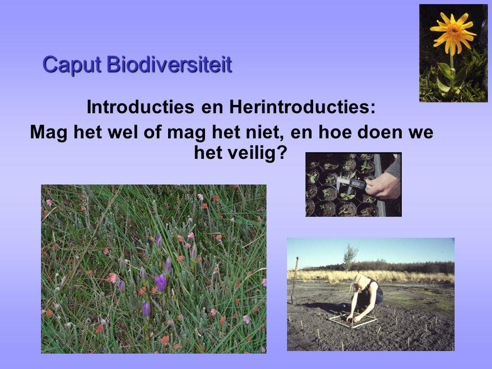Introductions Bron materiaal: -gevangenschap of natuurlijke populaties .