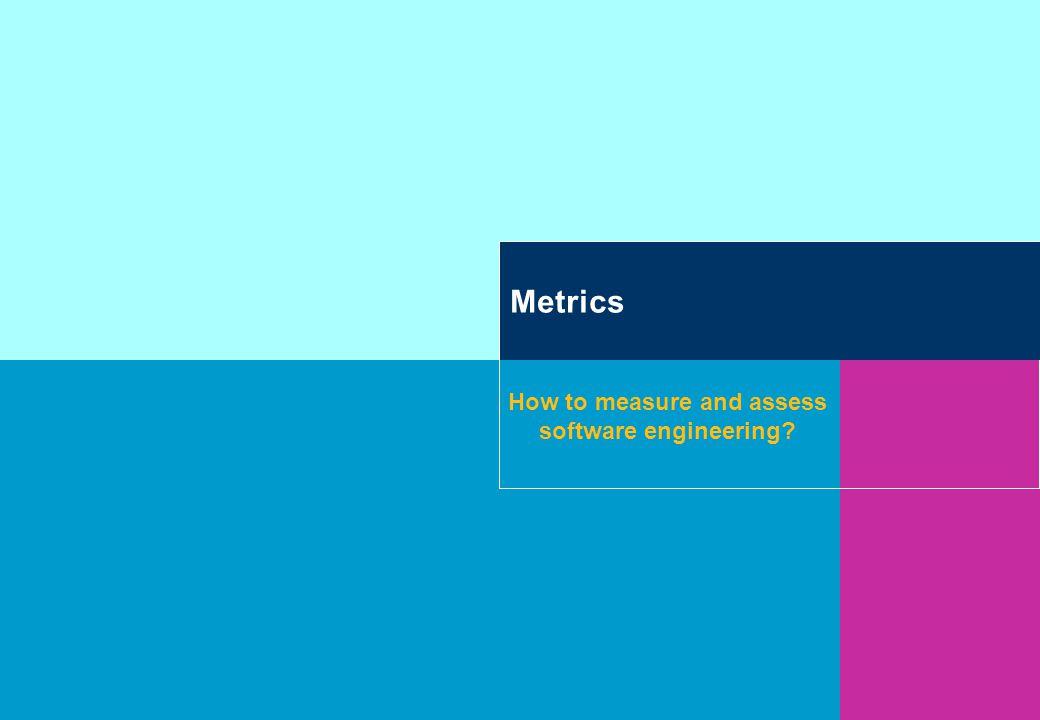 Contents Wat zijn software metrics Waarom is measurement belangrijk.