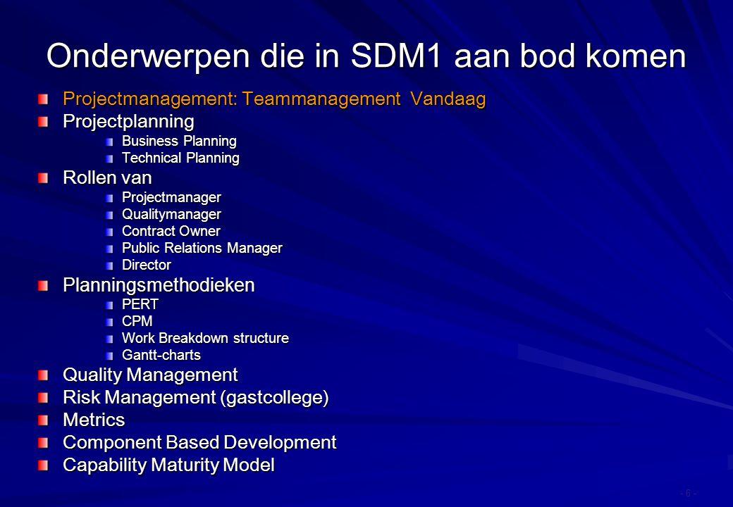 Agenda Karakteristieken van software teams Werken in groepen People Capability Maturity Model (P-CMM) Paradigma voor projectmanagement en – organisatie Slotopmerkingen
