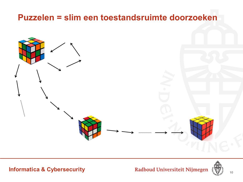 Puzzelen = slim een toestandsruimte doorzoeken 10
