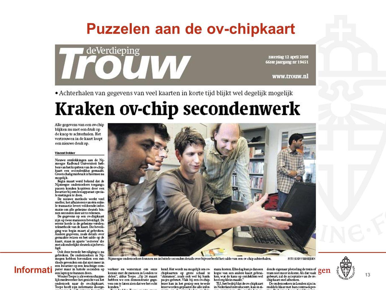 Informatica & Cybersecurity Puzzelen aan de ov-chipkaart 13