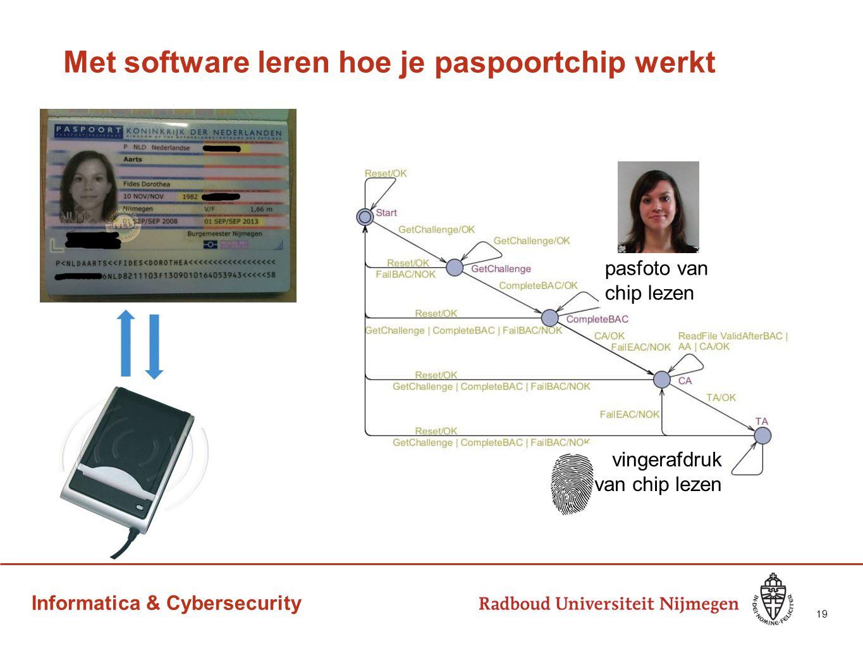 Informatica & Cybersecurity Met software leren hoe je paspoortchip werkt 19 pasfoto van chip lezen vingerafdruk van chip lezen