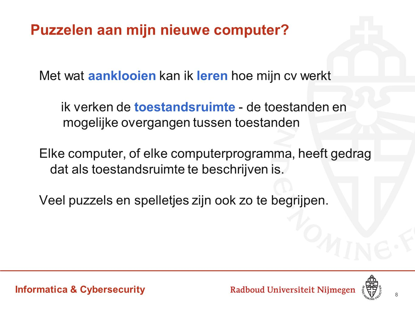 Informatica & Cybersecurity 9