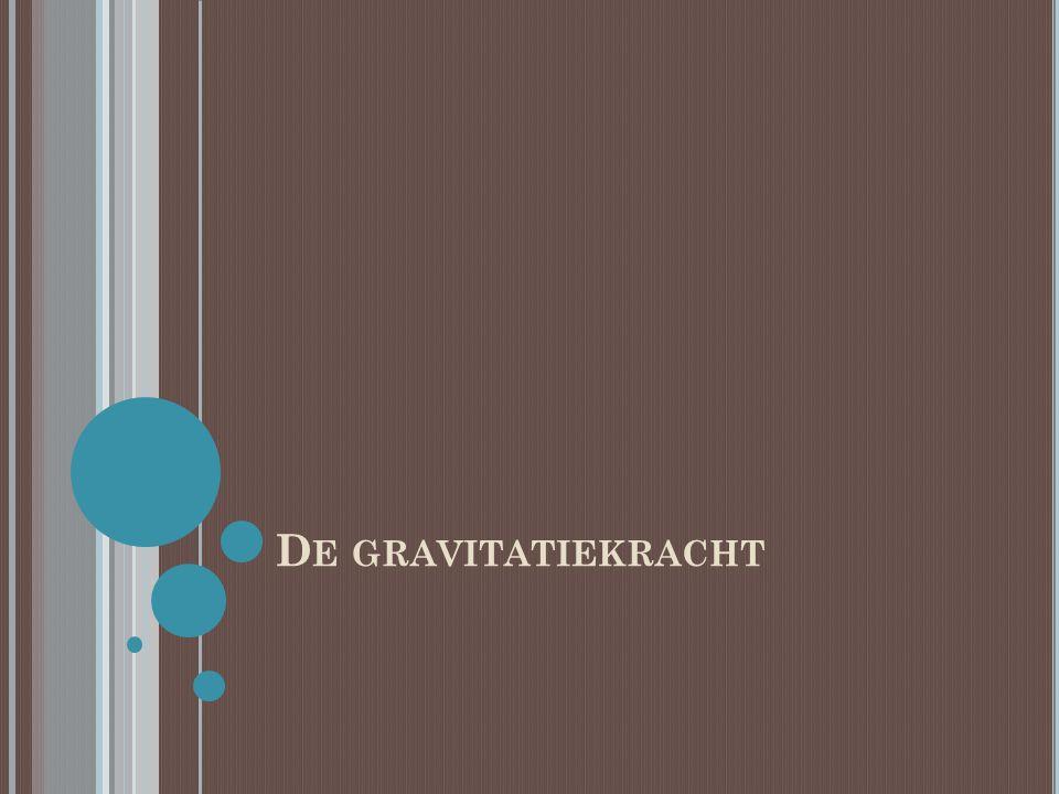 D E GRAVITATIEKRACHT