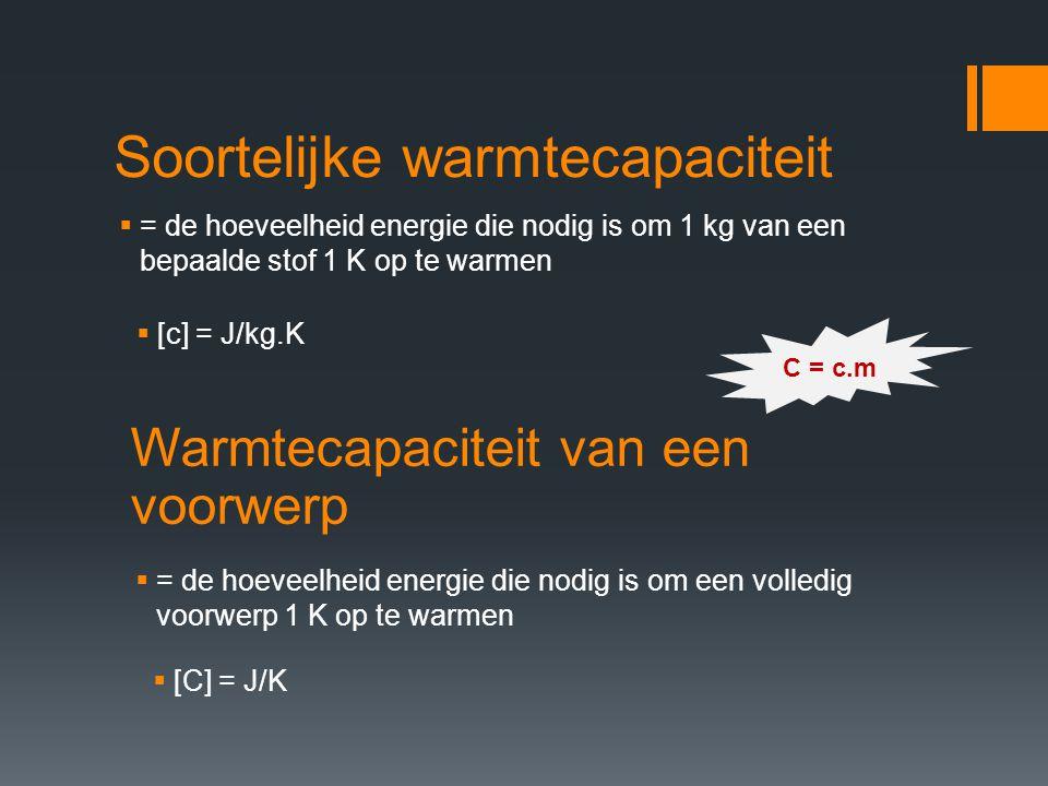 Toepassingen  Accumulatieverwarming Accumulatiekern = materie met redelijke grote warmtecapaciteit