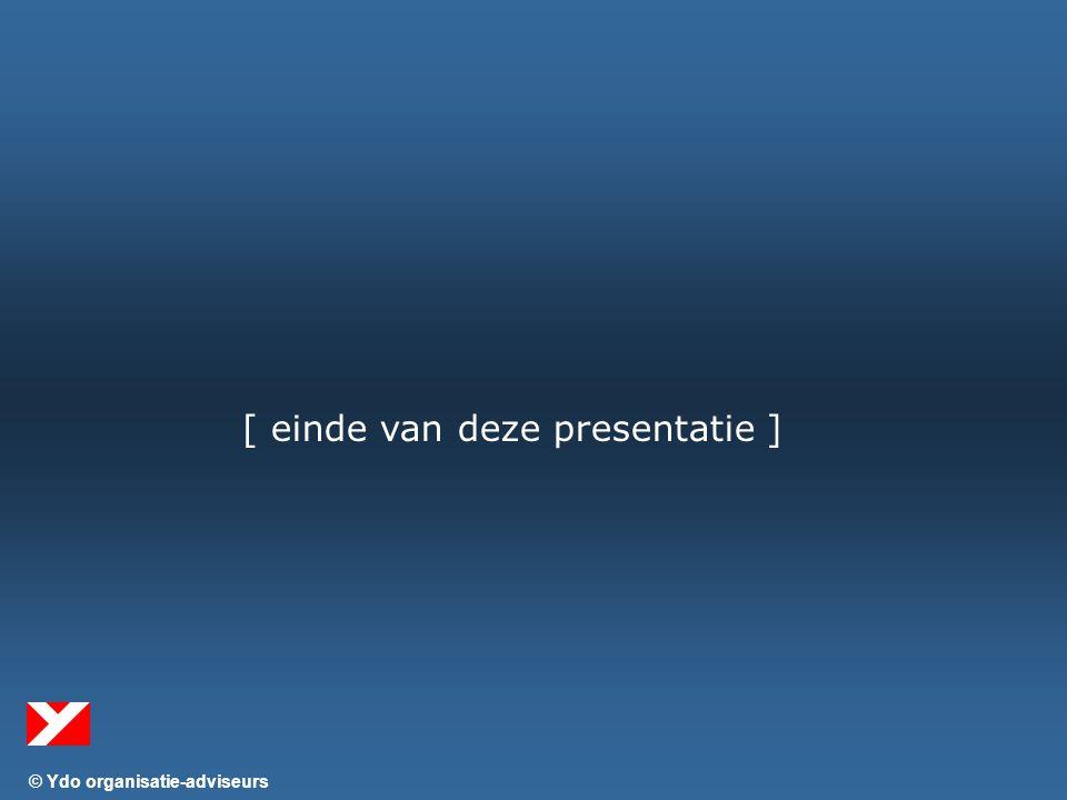 © Ydo organisatie-adviseurs [ einde van deze presentatie ]