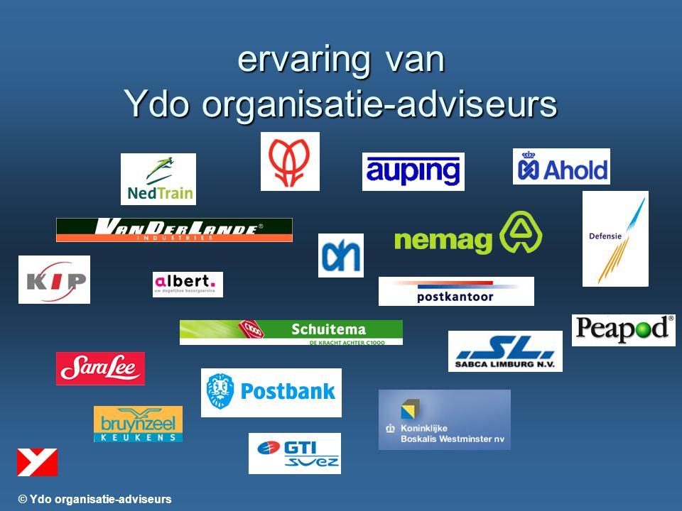 © Ydo organisatie-adviseurs ervaring van Ydo organisatie-adviseurs