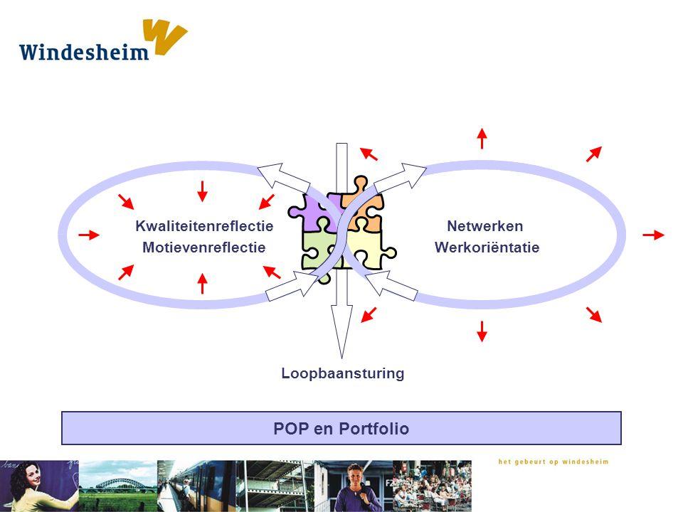 Kwaliteitenreflectie Motievenreflectie Netwerken Werkoriëntatie Loopbaansturing POP en Portfolio