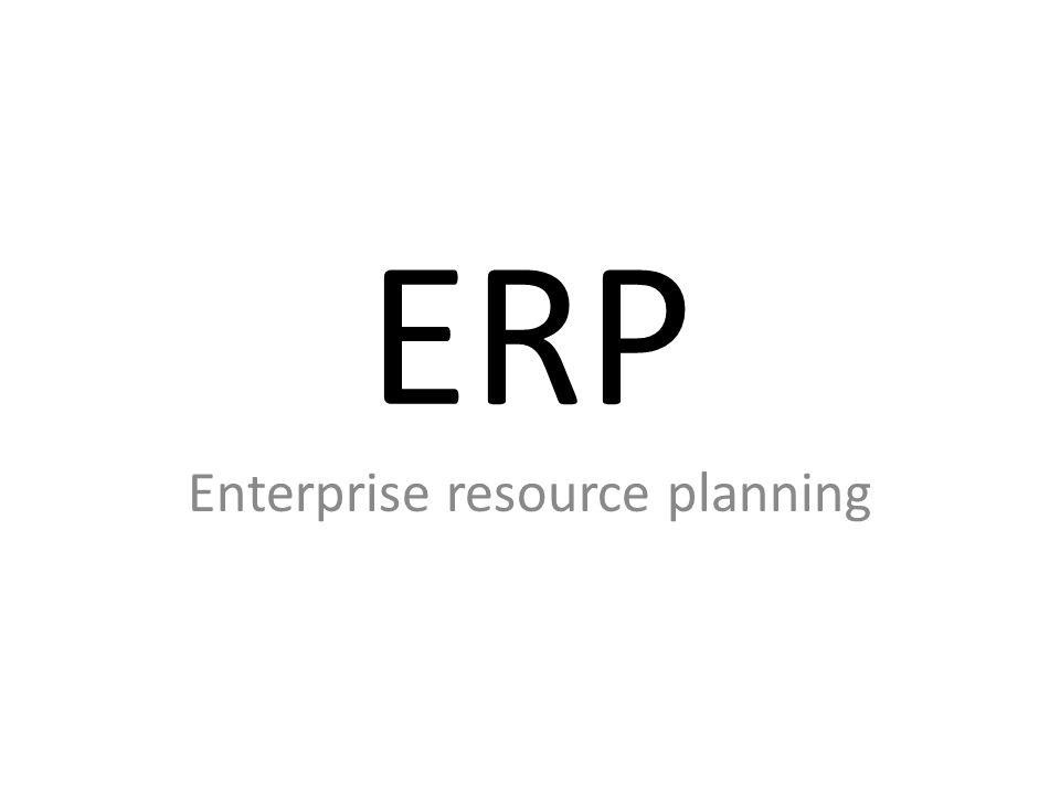 Wat is ERP ?