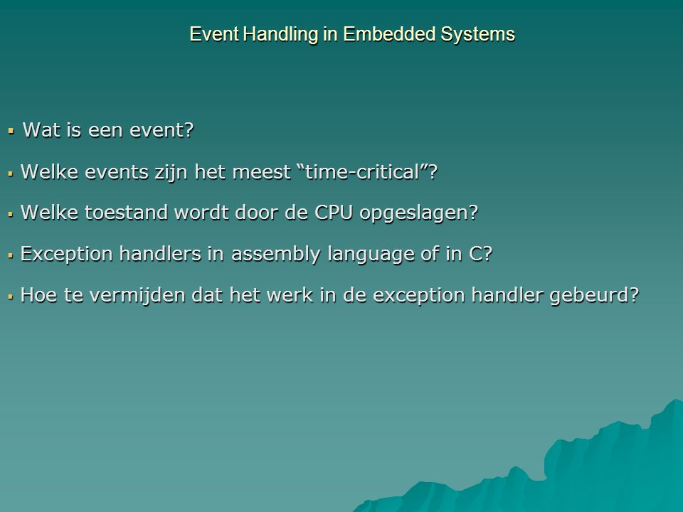 Wat is een event.