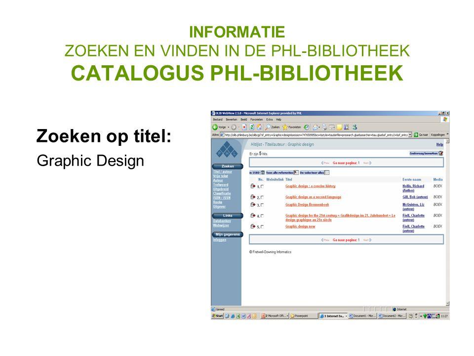 Zoeken op titel: Graphic Design