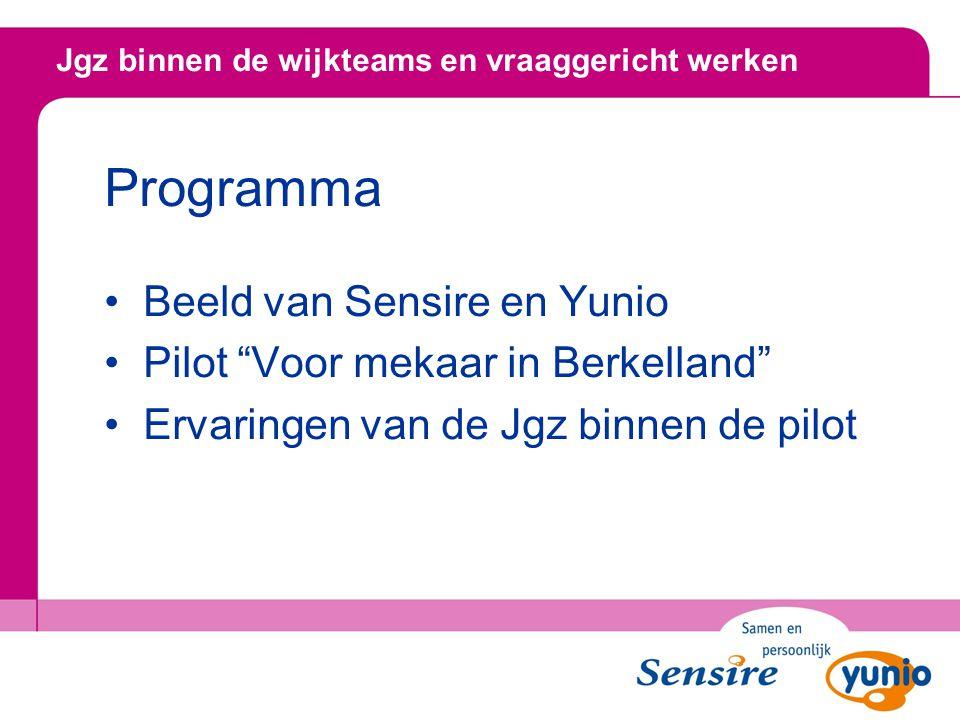 """Programma Beeld van Sensire en Yunio Pilot """"Voor mekaar in Berkelland"""" Ervaringen van de Jgz binnen de pilot"""
