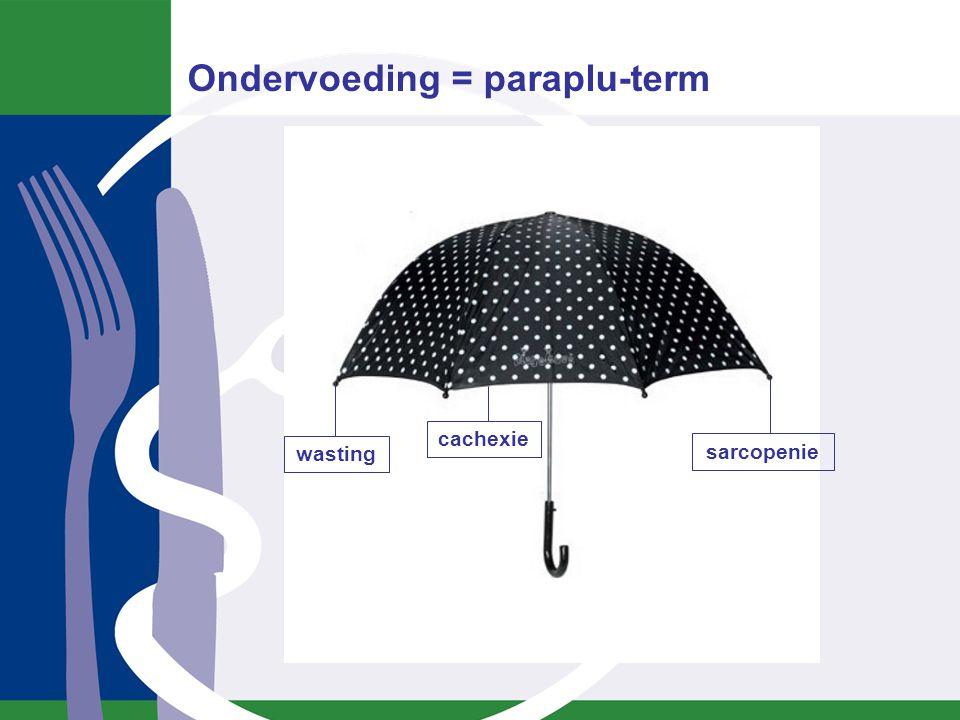 Ondervoeding = paraplu-term wasting cachexie sarcopenie
