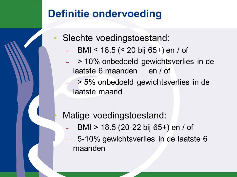 Ondervoeding in (naam instelling) In (naam instelling) blijkt …% van de opgenomen patiënten ondervoed te zijn Daarnaast blijkt …% risico op ondervoeding te lopen Dit blijkt uit recent onderzoek dat uitgevoerd is in 2010