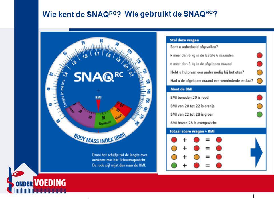 Wie kent de SNAQ 65+ ? Wie gebruikt de SNAQ 65+ ?