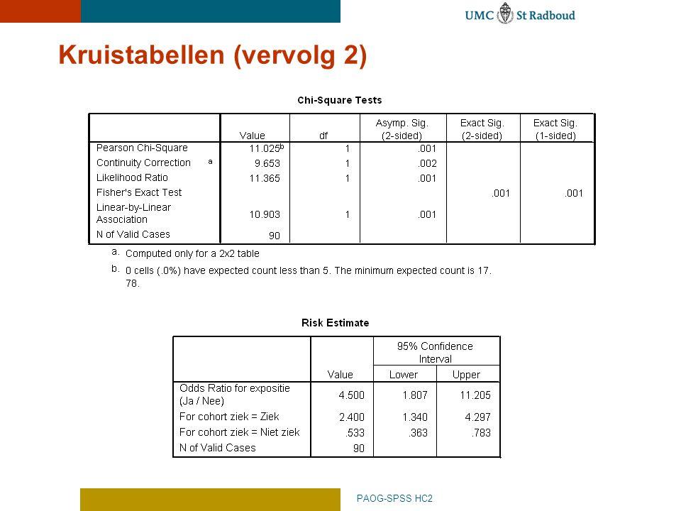 PAOG-SPSS HC2 Kruistabellen (vervolg 2)