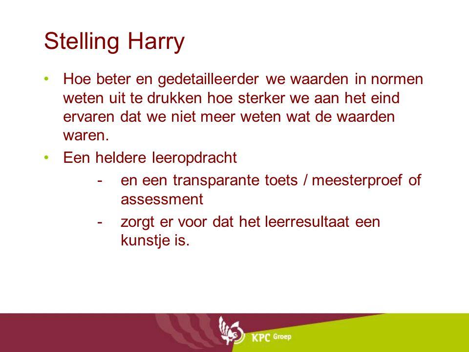 Stelling Harry Hoe beter en gedetailleerder we waarden in normen weten uit te drukken hoe sterker we aan het eind ervaren dat we niet meer weten wat d