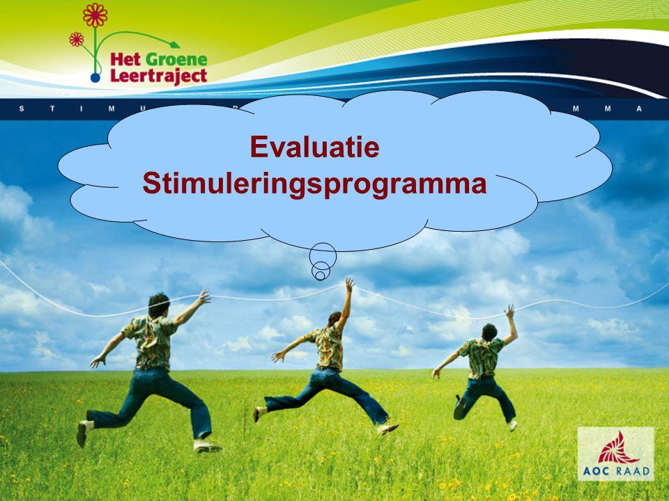 Evaluatie Stimuleringsprogramma