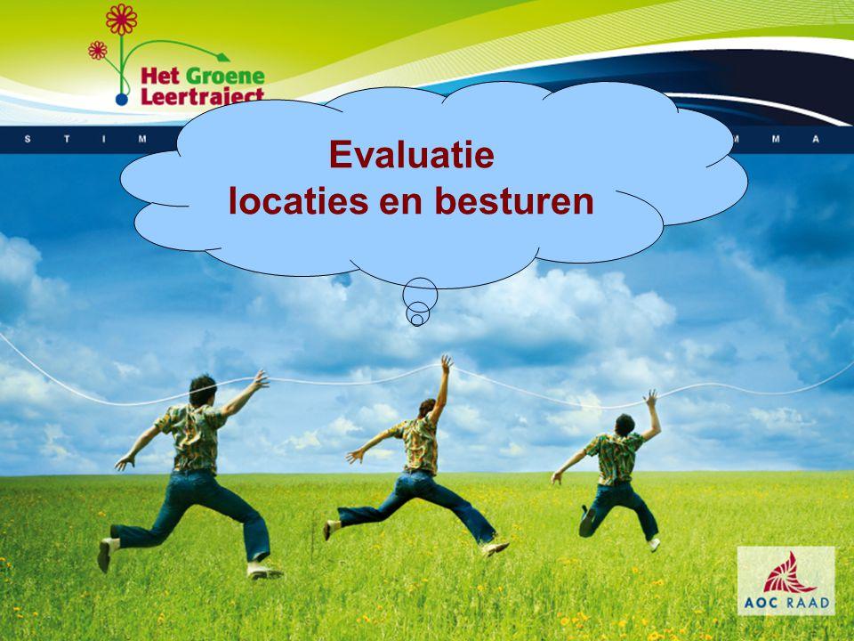 Evaluatie locaties en besturen