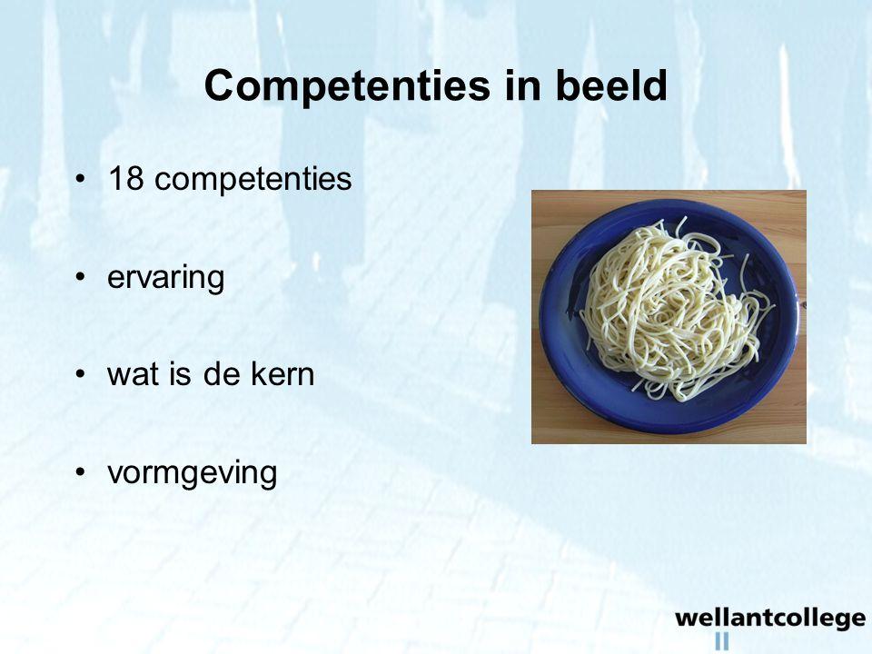 Competenties in beeld 18 competenties ervaring wat is de kern vormgeving