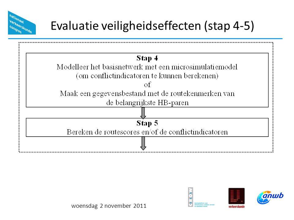 woensdag 2 november 2011 Evaluatie veiligheidseffecten (stap 4-5)